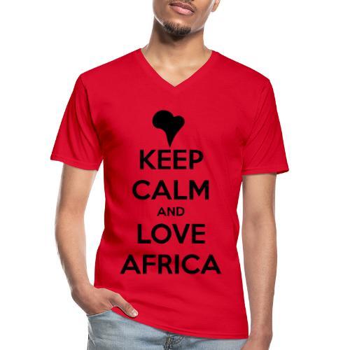 keep calm noir - T-shirt classique col V Homme