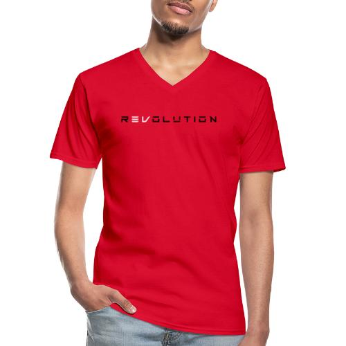 REVOLUTION RED - Klassisches Männer-T-Shirt mit V-Ausschnitt
