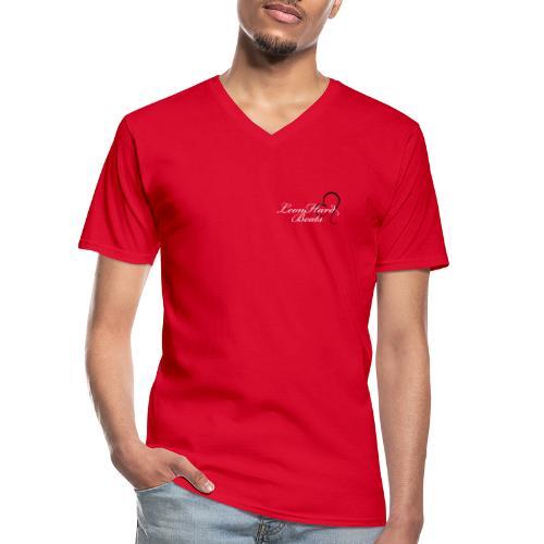 Leonhard beats small logo - Klassisk herre T-shirt med V-udskæring