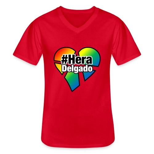 #HeraDelgado - Klassisches Männer-T-Shirt mit V-Ausschnitt