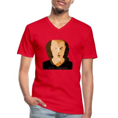 Front Man (orange) - Klassisk herre T-shirt med V-udskæring