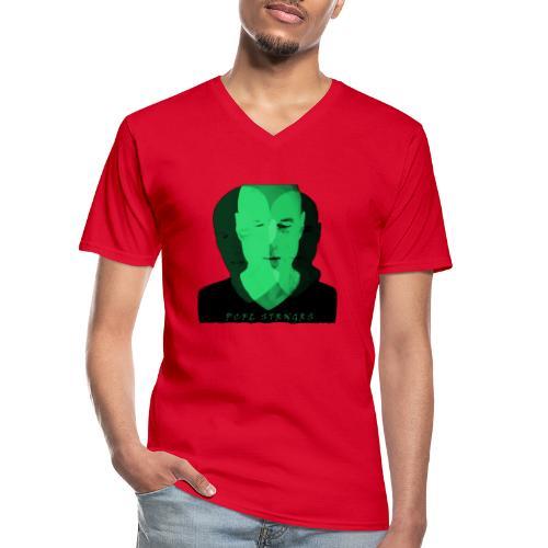 Front Man (green) - Klassisk herre T-shirt med V-udskæring