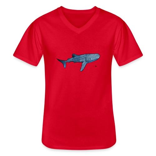 Whale shark - Maglietta da uomo classica con scollo a V