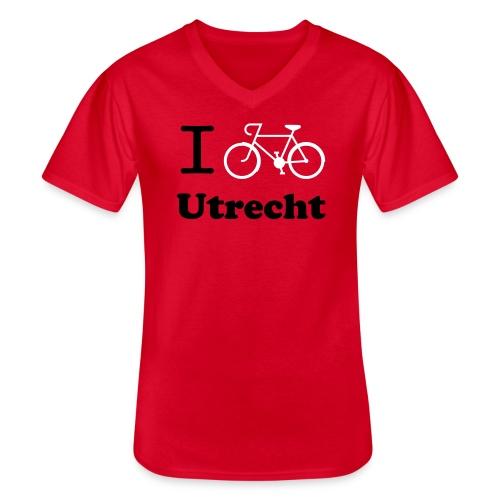 I cycle Utrecht Tour - Klassiek mannen T-shirt met V-hals