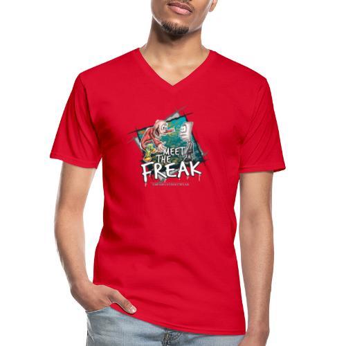meet the freak - Klassisches Männer-T-Shirt mit V-Ausschnitt