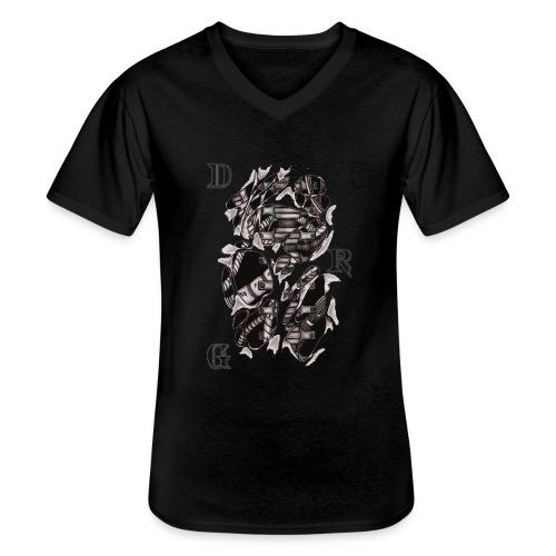 DRAGSTER WEAR - Maglietta da uomo classica con scollo a V