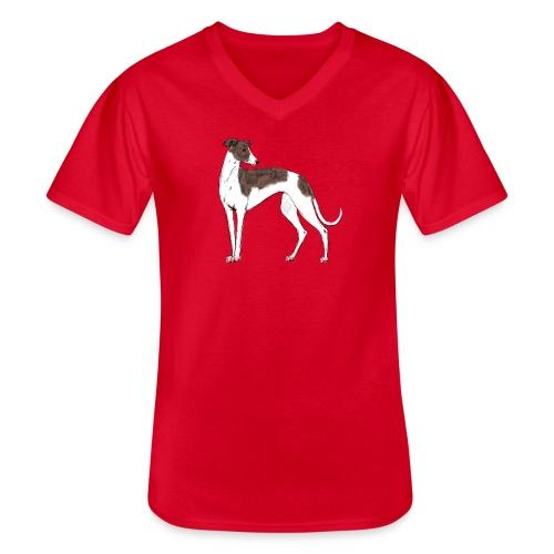Greyhound - Klassisches Männer-T-Shirt mit V-Ausschnitt