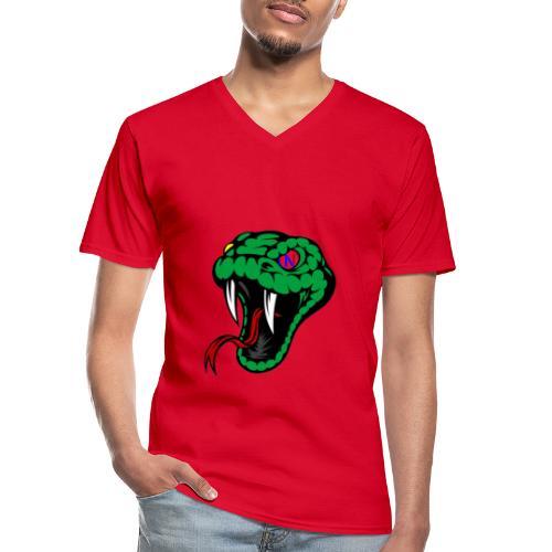 Snake collection - Maglietta da uomo classica con scollo a V