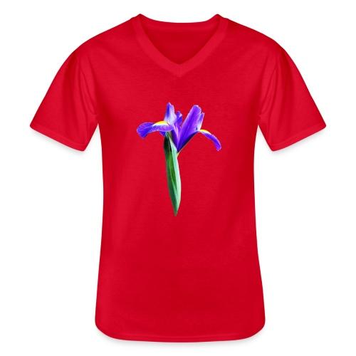 TIAN GREEN Garten - Iris 2020 02 - Klassisches Männer-T-Shirt mit V-Ausschnitt