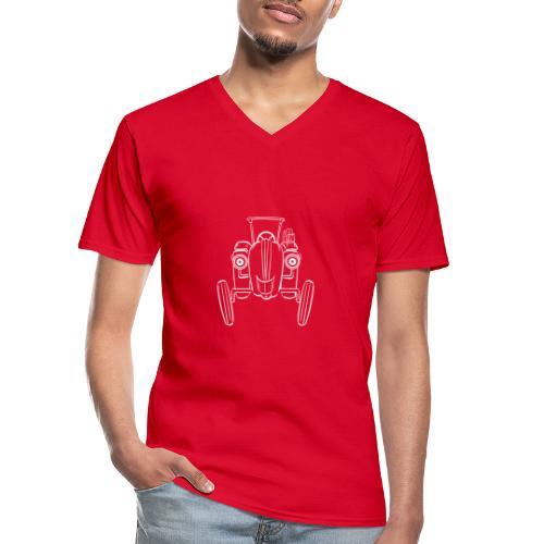Brunhilde Front weiß - Klassisches Männer-T-Shirt mit V-Ausschnitt