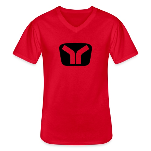 Yugo Logo Black-Transparent Design - Men's V-Neck T-Shirt