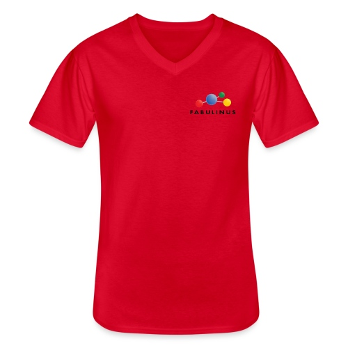 114346920 146346911 Fabulinus Zwart - Klassiek mannen T-shirt met V-hals