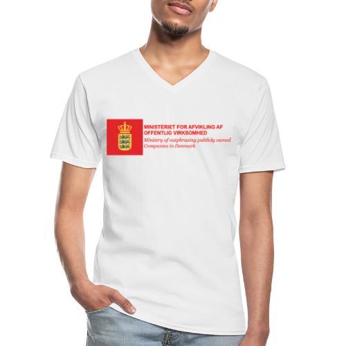 MINISTERIET FOR AFVIKLING AF OFFENTLIG VIRKSOMHED - Klassisk herre T-shirt med V-udskæring