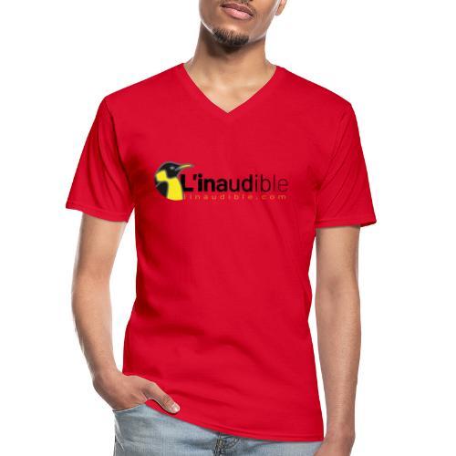 linaudible2020noir - T-shirt classique col V Homme
