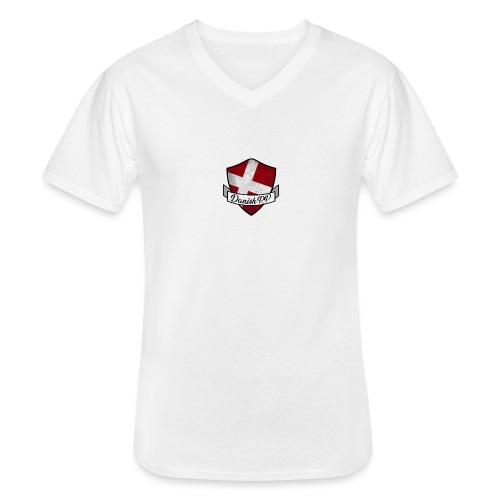 DanishRP Old Logo - Klassisk herre T-shirt med V-udskæring