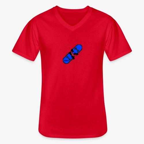 skateboard 512 - Klassisk herre T-shirt med V-udskæring