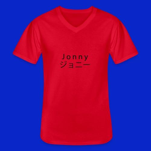 J o n n y (black) - Men's V-Neck T-Shirt