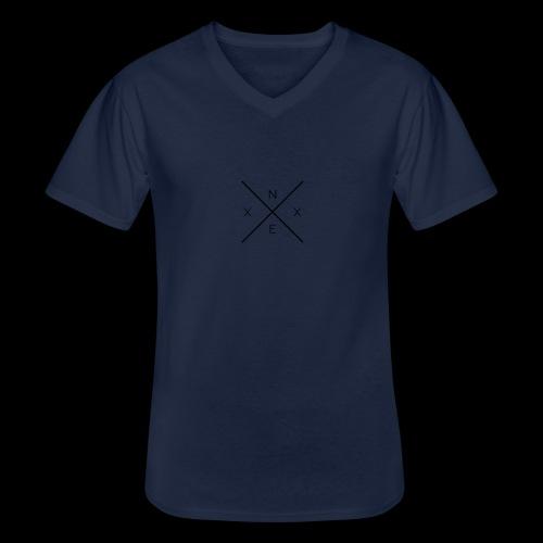 NEXX cross - Klassiek mannen T-shirt met V-hals