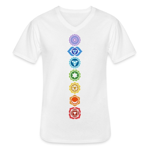 The 7 Chakras, Energy Centres Of The Body - Men's V-Neck T-Shirt