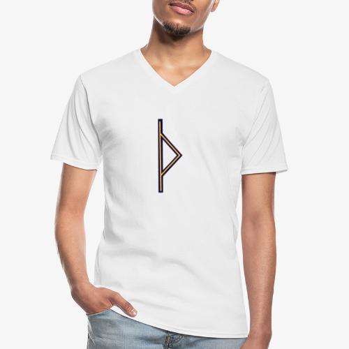 Rune Thurisaz - Klassisches Männer-T-Shirt mit V-Ausschnitt