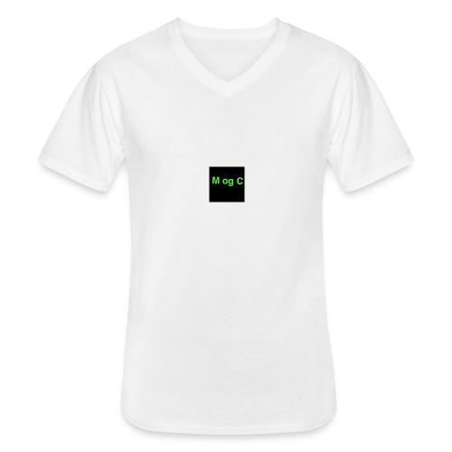 mogc - Klassisk herre T-shirt med V-udskæring
