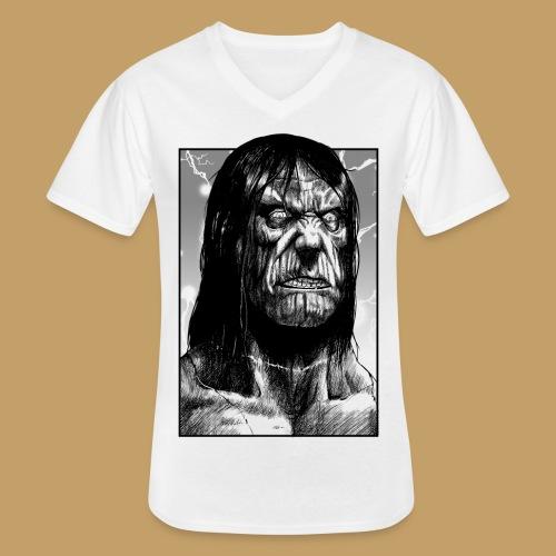 Frankenstein's Monster - Klasyczna koszulka męska z dekoltem w serek