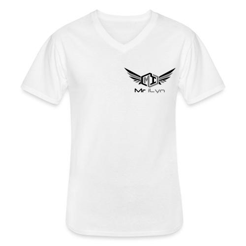 Mr iLyn - Klassisches Männer-T-Shirt mit V-Ausschnitt