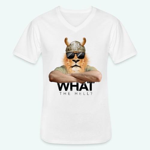 What the hell? - Klassisches Männer-T-Shirt mit V-Ausschnitt