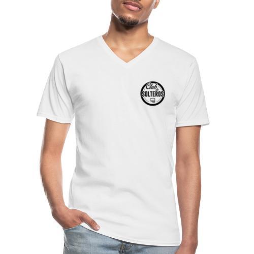 Club de Solteros (logo negro) - Camiseta clásica con cuello de pico hombre
