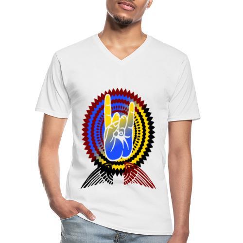 Rock it - Klassisches Männer-T-Shirt mit V-Ausschnitt