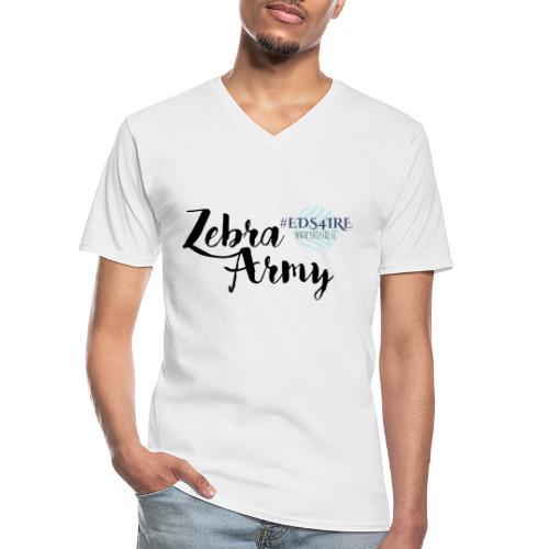Zebra Army (black) - Men's V-Neck T-Shirt
