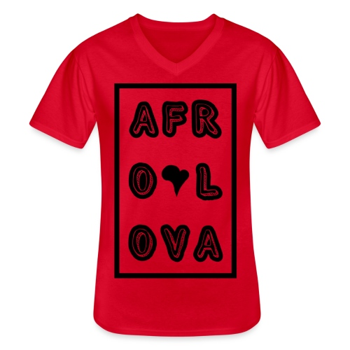 Afro Lova Rectangle - T-shirt classique col V Homme