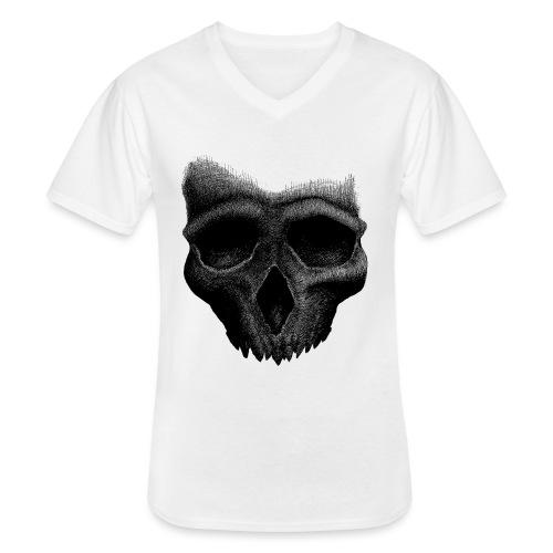 Simple Skull - T-shirt classique col V Homme