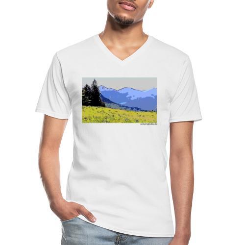 Berge künstlerisch - Klassisches Männer-T-Shirt mit V-Ausschnitt