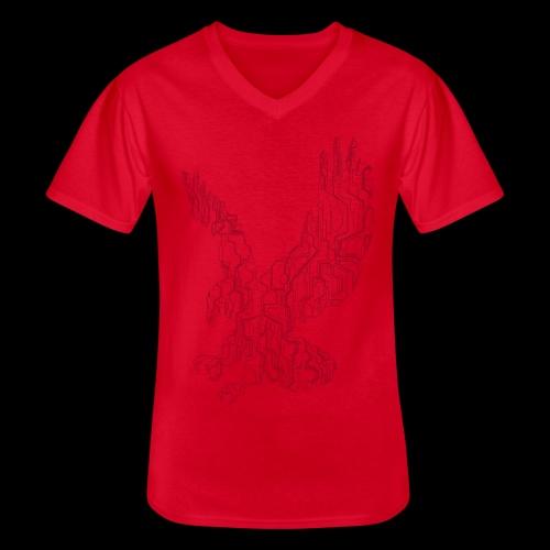 Eagle circuit - Klassisk herre T-shirt med V-udskæring