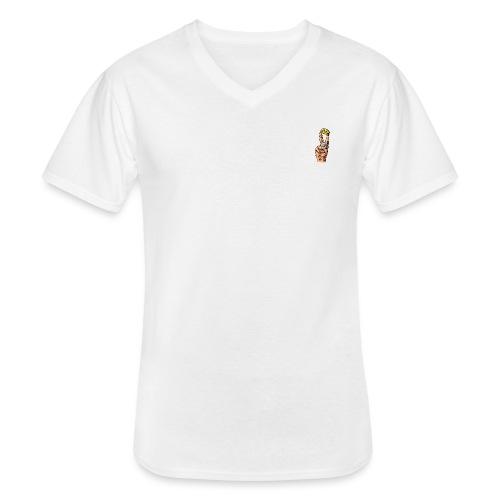 Haxenspreizer - Klassisches Männer-T-Shirt mit V-Ausschnitt
