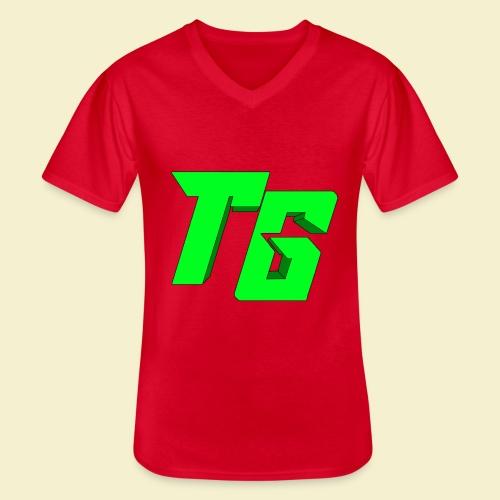 TristanGames logo merchandise [GROOT LOGO] - Klassiek mannen T-shirt met V-hals