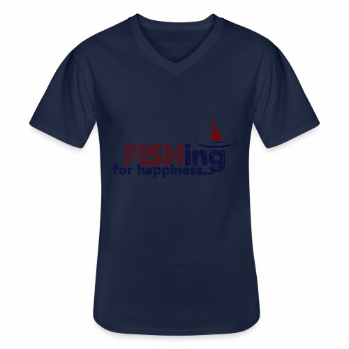 Fishing For Happiness - Men's V-Neck T-Shirt