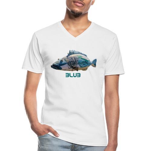 Fisch - Klassisches Männer-T-Shirt mit V-Ausschnitt