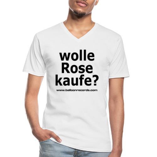 Wolle Rose Kaufe - Klassisches Männer-T-Shirt mit V-Ausschnitt
