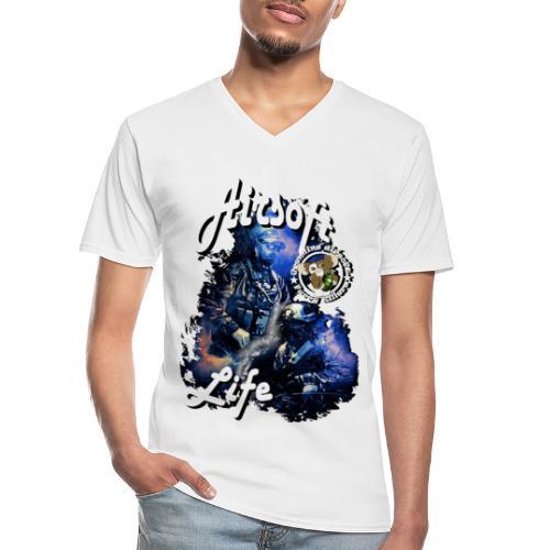 mikeairsoft - Klassisk herre T-shirt med V-udskæring