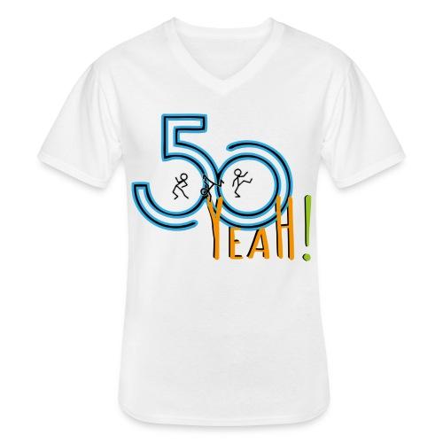50 yeah shirt1 - Klassisches Männer-T-Shirt mit V-Ausschnitt