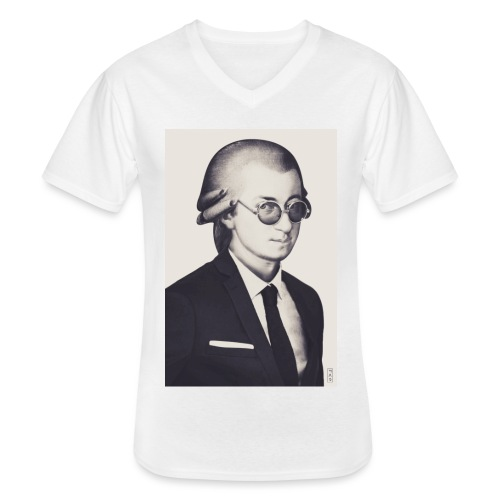 Mozart - Noir et blanc - T-shirt classique col V Homme