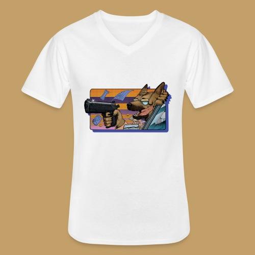 Gun Dog - bez napisu - Klasyczna koszulka męska z dekoltem w serek