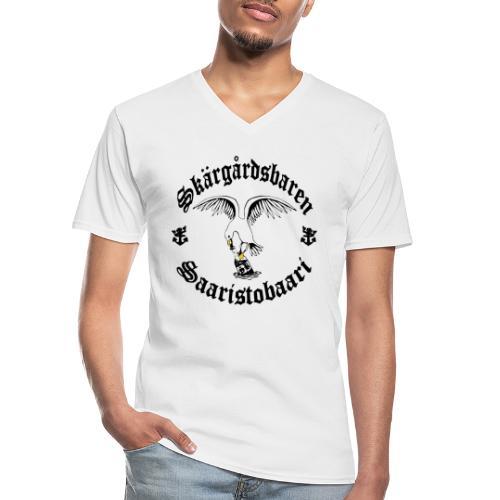 Black logo - Klassinen miesten t-paita v-pääntiellä