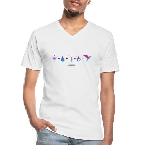 Humanisten Formel: Energie - Klassisches Männer-T-Shirt mit V-Ausschnitt