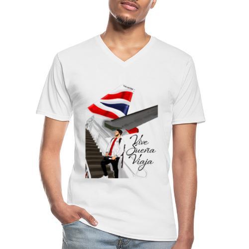 Vive sueña viaja by Viaja con Yoel - Camiseta clásica con cuello de pico hombre