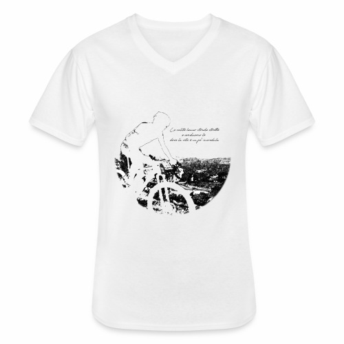 La vita incredula - Maglietta da uomo classica con scollo a V