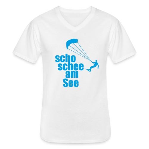 scho schee am See Surfer 01 kite surfer - Klassisches Männer-T-Shirt mit V-Ausschnitt