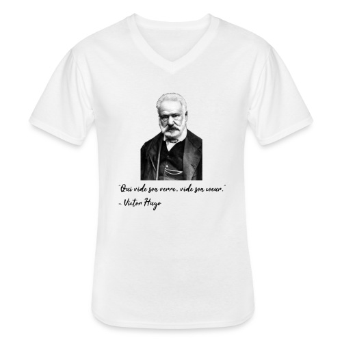 Victor Hugo - citation - T-shirt classique col V Homme